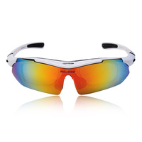 WOLFBIKE Men Polarized Cycling Sun Glasses Outdoor Sports Bicycle Glasses Bike Sunglasses TR90 Ski Goggles Eyewear 5 Lens White