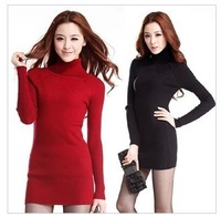 Autumn and winter Women Slim hedging long stretch sweater bottoming sweater female XYHX049-2 , free shipping