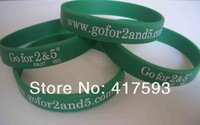 factory directly wholesale cheap Custom Silicone Baller Band with logo or text printed cheap band/bracet/wristband  free shiping