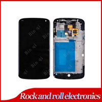 100% Test For LG Optimus E960 Google Nexus 4 LCD Screen With Touch Screen Digitizer + Frame Assembly Free Shipping