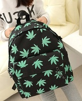 2014 New Small Women Backpack Canvas Female Print Backpack 4 Colors Children School Bag Casual Student Canvas School Bag