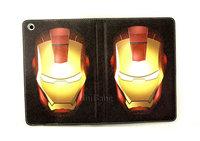 New luxury Cute Cartoon Anime hero iron man ironman Flip Stand pu Leather Case Cover For Apple Ipad Mini free shipping 07202
