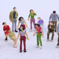 100 Figures 1:42 Painted Colorful People Passenger for Train Car garden Scenery Moyinltd