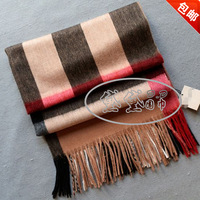 Fashion classic check cape lovers design widening thickening cashmere scarf wool