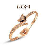 fashion yellow / rose gold plated bangles for women,set with Zircon Crystal,christmas gift,new arrival,ROXI