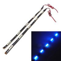 2pcs 30cm 15 LED 5050 SMD Flexible Bar Strip Neon light Day Time Running Lamp DRL 12V Blue Red White