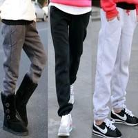 new arrival women pants fleece sport pants casual sweatpants large size loose pencil pants free shipping