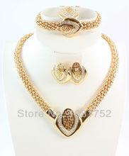 Free Shipping High Quality Fashion Elegant Bridal Jewelry Sets 4Pcs Wedding Jewelry Sets For Women