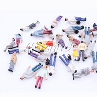 100 Pure colour Painted Model People Figures Street Scenes HO Scale Moyinltd