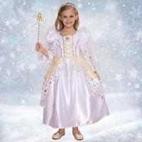 Cute Little Girl Christmas white Cinderella Skirt Princess Halloween Costumes Fancy dress Birthday gifts