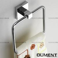 Free shipping Bathroom copper towel ring square towel ring bathroom rack hardware wholesale