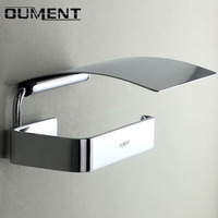Free shipping Copper bathroom paper holder with lid bathroom toilet paper waterproof tray  wholesale