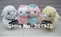 Promotions high quality Fashion Cute Japan alpacasso Cafe Maid alpaca animal plush toys for Cafe,children toys 1pcs+free gift