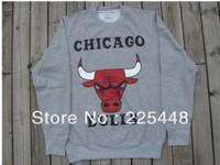 Free Shipping Men's Long Sleeve T-Shirt Fashion Bulls Sweater Cotton Cloth Hip Hop Shirt Wholesale