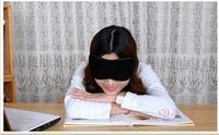 2pcs/lot The Black Sleeping Pure Cotton Eye Mask Shade Nap Cover Blindfold Sleeping Eyeshade for Travel Rest Free Shipping