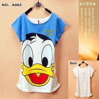 A002 2015 New Donald Duck shirts tees Women tees women topsT-shirts Free Shipping Women's Printed T Shirts