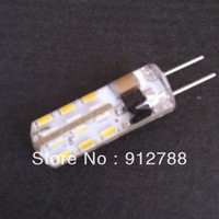 Big discount High Power x10 SMD3014 led 220volt 2Watt G4 24LEDS white/warm White Lamp Bulb