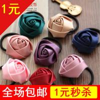 Handmade hair accessory fashion brief rose headband hair rope hair maker 1005