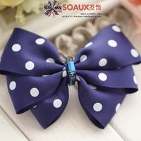 2013 bow sweet gentlewomen princess hairpin Dark Blue bow hairpin 1292