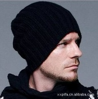 Free Shipping in the fall and winter Hip-hop cap Set head cap knitted hat fashion uble thickening hat  bonnets