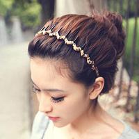 Handmade chiffon leopard print wrap hair bands wave headband brief hair accessory