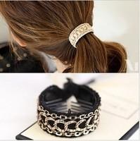 Simple gentlewomen link gripper banana clip hair clips hair accessory hair accessory accessories