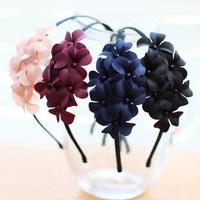 Star flower hair accessory headband Wine red pink hair bands elegant headband hair maker
