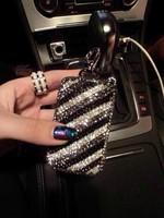 Rhinestone sparkling genuine leather car diamond rhinestone key wallet fashion car key cover key wallet