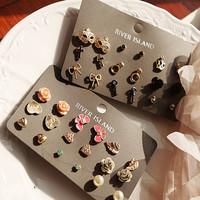 [Min. 6$] 2015 free shipping wholesale hot sale  Gorgeous stud earrings set E214
