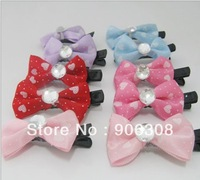 Free Shipping 2014 New Bows Hair Clip Fashion Cute Girls Hairclips Bow Childen Hair Accessories Hairpins 100pcs/lot Wholesale