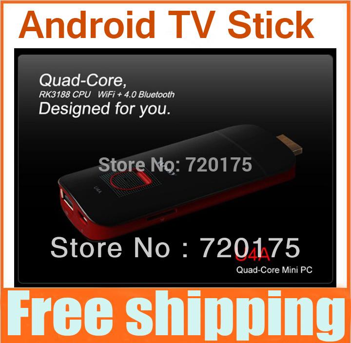 80% off 2pcs/lot High Quality Android TV Box RK3188 Dual Core Google 4.2 WiFi USB HDMI Internet Game Smart TV Box Stick Black(China (Mainland))