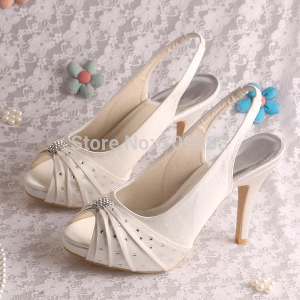 Wholesale Custom Handmade Pump Elegant High Heeled Bridal Shoes ...
