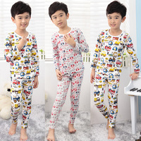 Child clothing male underwear sleep set 2013 autumn 100% cotton baby clothes 2 - 7 b