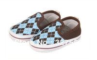 Retail! baby boy shoes first walkers prewalkers boy antis kid soft shoes plaid design BX-314