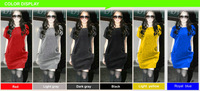 2014 free shipping M L XL XXL XXXL spring ,winter and new summer woman large size European style loose dress