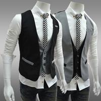 Men's single-breasted casual vests mens suit vest 2 color 3 size 124015-5