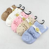 Female socks women's 100% cotton 100% cotton dot socks bubble knee-high socks