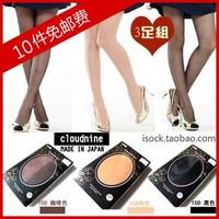 Ultra-thin cloudnine 15d Core-spun Yarn pantyhose stockings black skin color candy color socks k01