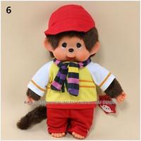 WJ128 Fashion Lovely Plush Stuffed Cartoon Doll Toy Monchhichi Multiple Style 35 CM Supernova Sale Baby Birthday Gift