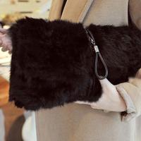 Women's bags 2013 100 % rabbit fur bag bales fur bag small day clutch messenger bag