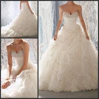 New White / Ivory Sweetheart Wedding Dress Bridal Gown Size custom 6-18