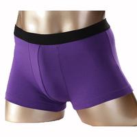 Free shipping 100% male cotton panties 100% men's trunk elastic cotton shorts u sexy boxer shorts