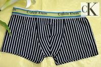 Free shipping Stripe male boxer panties 100% male cotton panties 100% cotton shorts male panties