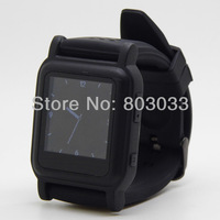 Free shipping  wholesale black 8GB MP4 watch player with 8GB memory