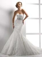 New White/Ivory Mermaid Bridal Wedding Dress Custom Size 2-4-6-8-10-12-14-16-18+