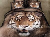 New Beautiful 4PC 100% Cotton Comforter Duvet Doona Cover Sets FULL / QUEEN / KING SIZE bedding set 4pcs Animal leopard tiger op
