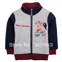 high quality NEW Free shipping 5pcs/lot children clothing boy outerwear boy winter jacket boy zipper peppa pig coat  1-6years