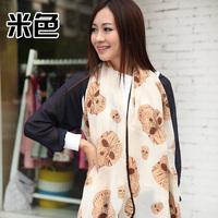 Hemming 2013 velvet chiffon skull women's design long scarf large silk scarf