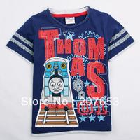 2014 NEW Free shipping 5pcs/lot  children clothes boy summer t-shirt boy 100%cotton cartoon printing  tops boys cool tees