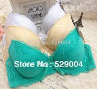 New 2013 French Romantic Print Lace VS Bra Sexy Women Underwear Push Up Bra bras for women Black intimates 6 Color